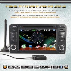 "7"" HD AUDI A3 Car dvd player Radio GPS DVB-T iPOD PiP 3D SW Control Can Bus"