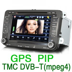 Sistema de navegación GPS incorporado en tablero para vehículos Volkswagen Passat, Golf 6, Jetta