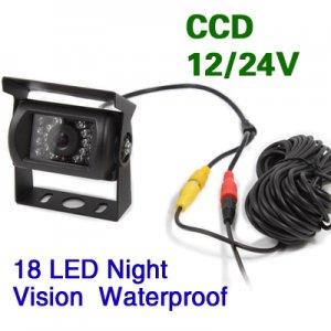 CCD Color Reversing Camera 12V/24V 18 LED