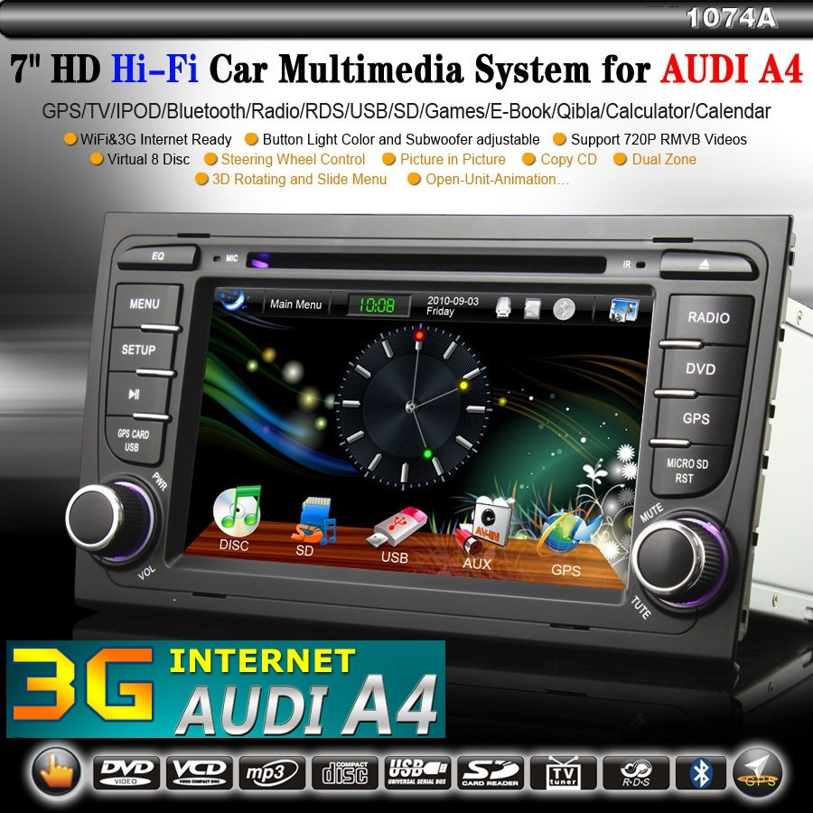3g internet autoradio dvd gps navi usb bluetooth f r audi. Black Bedroom Furniture Sets. Home Design Ideas
