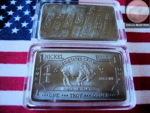 1 Oz .999 * Nickel * Bullion Buffalo bar *RARE* Mint Condition *SEALED* Air-Tite