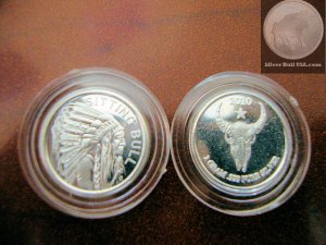 1 GRAM SILVER SITTING BULL INDIAN COIN ROUND BAR *SEALED* FREE SHIPPING
