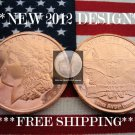 2012 1 OZ .999 COPPER ROUND COIN BAR ♦MORGAN DOLLAR♦ PROOF BU GEM♦ NEW SILVER !?