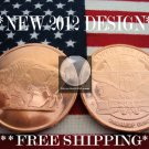 2012 1 OZ .999 COPPER ROUND COIN BAR ♦AMERICAN BUFFALO♦ PROOF BU ♦ NEW SILVER !?