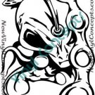 Crazy Alien Art UFO Fantasy #1 Decal Sticker