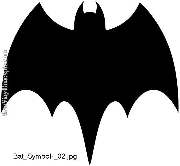 Batman Bat Symbol Style #2 Decal Sticker
