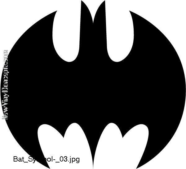 Batman Bat Symbol Style #3 Decal Sticker