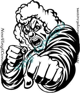 Crazy Evil Clown Style #1 Decal Sticker