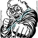 Crazy Evil Clown Style #1 Decal Sticker