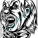 Crazy Evil Clown Style #2 Decal Sticker
