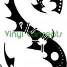 Crazy Tribal Art  Style #1 Decal Sticker
