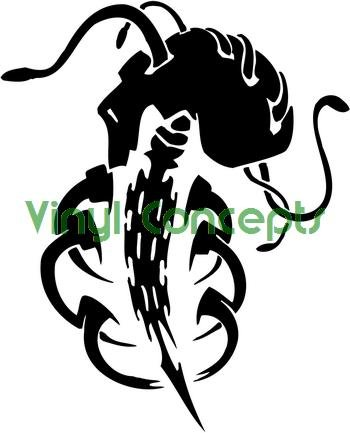 Crazy Tribal Art Style #2 Decal Sticker