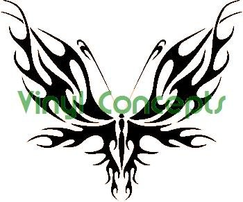 Crazy Butterfly Art Style #2 Decal Sticker