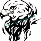 Flaming Eagle Tribal Style #5 Decal Sticker
