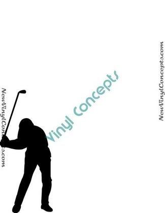 Golf Silhouette #7 Decal Sticker
