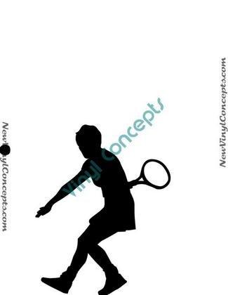 Tennis Sport Silhouette #1 Decal Sticker