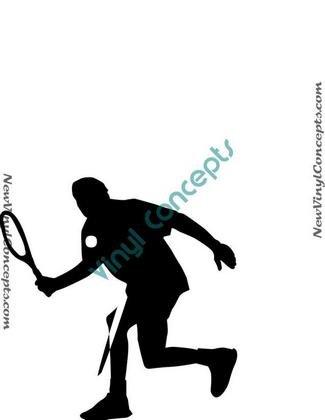 Tennis Sport Silhouette #2 Decal Sticker