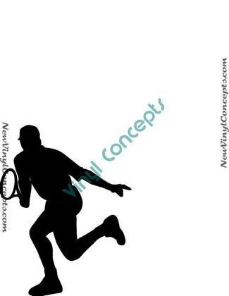 Tennis Sport Silhouette #8 Decal Sticker