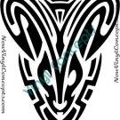 Zodiac Astrological Sign Symbol Tribal #2 Decal Sticker