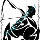 Sagittarius Zodiac Astrological Sign Symbol Tribal Decal Sticker