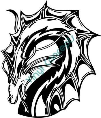 Dragon Style #3 (Fantasy & Science Fiction) Decal Sticker