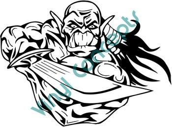 Goblin Style#2 (Fantasy & Science Fiction) Decal Sticker