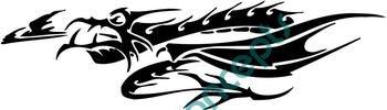 Dragon Horizontal Style#1 (Fantasy & Science Fiction) Decal Sticker