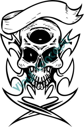 Skull Template #2 (Fantasy & Science Fiction) Decal Sticker