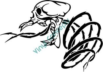 Skull Vegatation #2 (Fantasy & Science Fiction) Decal Sticker