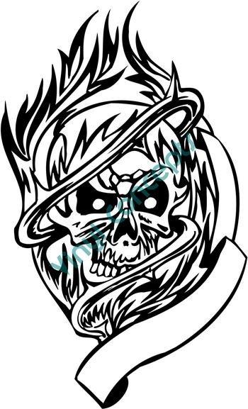 Skull Tattoo #1 (Fantasy & Science Fiction) Decal Sticker