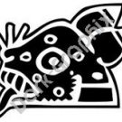 Ocelotl Jaguar Aztec Ancient Logo Symbol (Decal - Sticker)