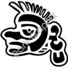Ozomatli Monkey Aztec Ancient Logo Symbol (Decal - Sticker)