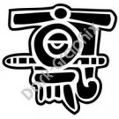 Quiauitl Rain Aztec Ancient Logo Symbol (Decal - Sticker)