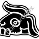 Tochtli Rabbit Aztec Ancient Logo Symbol (Decal - Sticker)