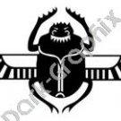 Flying scarab Egyptian Ancient Logo Symbol (Decal - Sticker)
