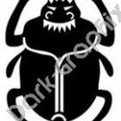Scarab Dung Beetle Egyptian Ancient Logo Symbol (Decal - Sticker)