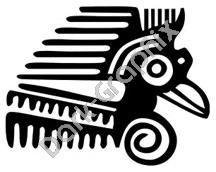 Bird Head Meso Deko Ancient Logo Symbol (Decal - Sticker)