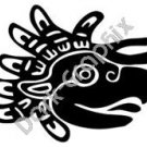 Bird Head 2 Meso Deko Ancient Logo Symbol (Decal - Sticker)