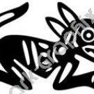 Dog Head Meso Deko Ancient Logo Symbol (Decal - Sticker)