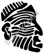 Face 2 Meso Deko Ancient Logo Symbol (Decal - Sticker)
