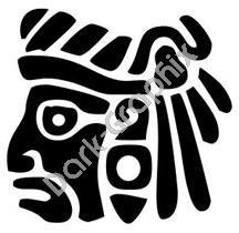 Face 3 Meso Deko Ancient Logo Symbol (Decal - Sticker)