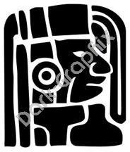 Face 4 Meso Deko Ancient Logo Symbol (Decal - Sticker)