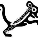 Jaguar Meso Deko Ancient Logo Symbol (Decal - Sticker)