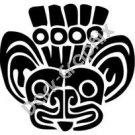 Jaguar Head Meso Deko Ancient Logo Symbol (Decal - Sticker)