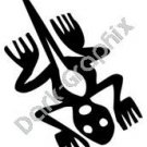 Lizard 2 Meso Deko Ancient Logo Symbol (Decal - Sticker)