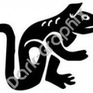 Lizard 3 Meso Deko Ancient Logo Symbol (Decal - Sticker)