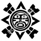Sun Meso Deko Ancient Logo Symbol (Decal - Sticker)