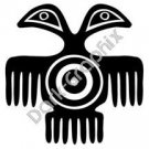 Two Headed Bird Meso Deko Ancient Logo Symbol (Decal - Sticker)