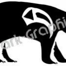 Bear Native American Ancient Logo Symbol (Decal - Sticker)