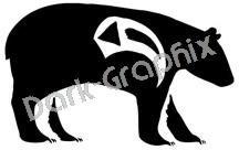 Bear Native American Ancient Logo Symbol (Decal - Sticker)